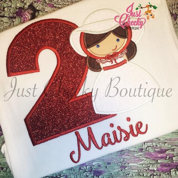 Mary Poppins - Mary Poppins Inspired Embroidered Shirt - Disney Girls Shirt - Disney Princess Birthday Shirt