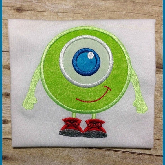 One Eyed Monster Cutie as Mike Wazowski Embroidered Shirt