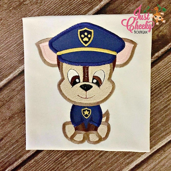 Paw Patrol Cutie Inspired Embroidered Shirt - Chase - Rescue Missions - Police Paw Patrol - Helicopter Pup - Pup Pup Boogie
