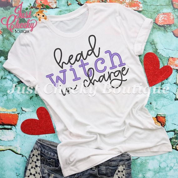 Head Witch In Charge Shirt-Mom Shirt-Funny Shirt-Sarcastic Shirt-Halloween Shirt-Mom Halloween Costume-