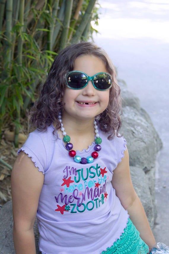 Girls Zoo Shirt - Kids Zoo Shirt - Zoo Trip Shirt - Unicorns and Mermaids - Girls Summer Shirt