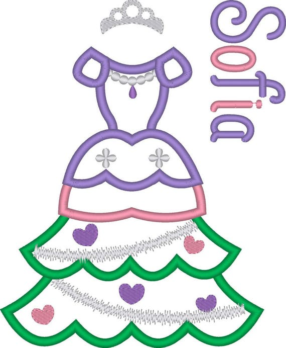 SAMPLE SALE, Sofia Christmas Tree Embroidered Shirt -Sofia the First-Disney Princess-Disney Christmas Vacation - Mickey Very Merry Christmas