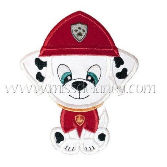 SAMPLE SALE, Fire Pup Cutie - Firefighter Dog - Safety Pups -