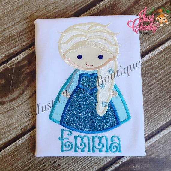 Queen Elsa Inspired Embroidered Shirt - Frozen - Ice Queen - Disney Vacation - Disney Birthday