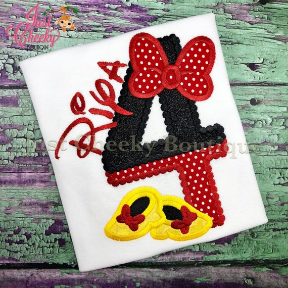 Minnie Mouse Inspired Embroidered Shirt - Minnie Mouse - Disney Vacation - 1st Disney Trip - Disney Birthday