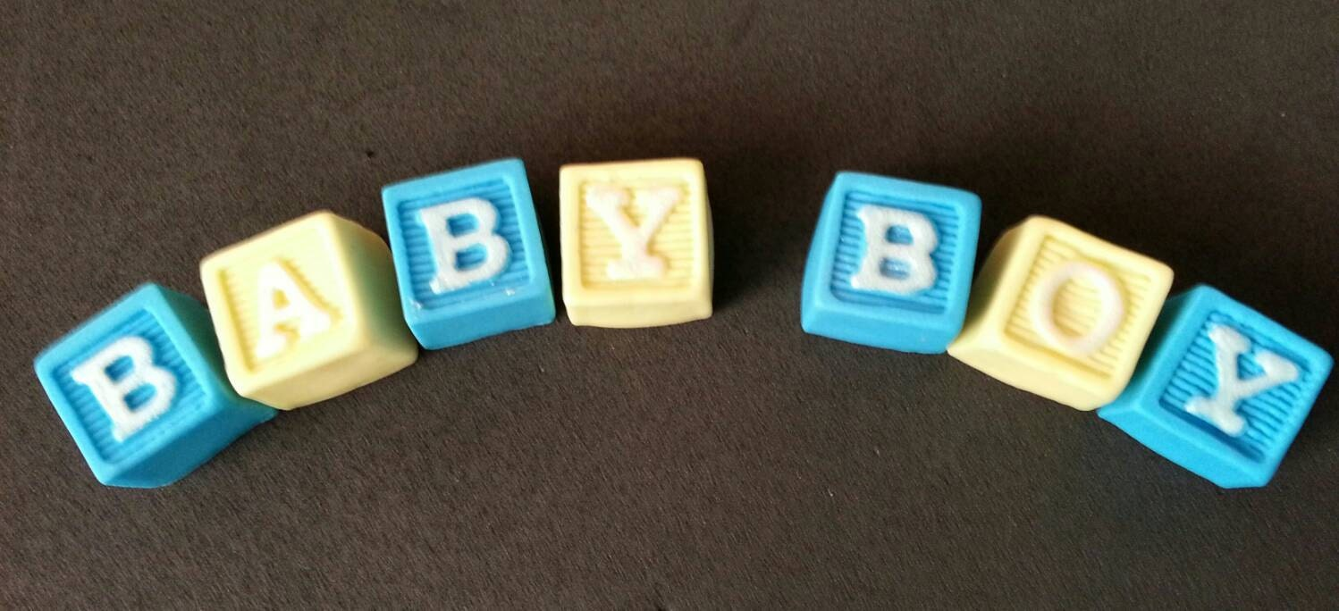 fondant personalized letter blocks cake topper etsy