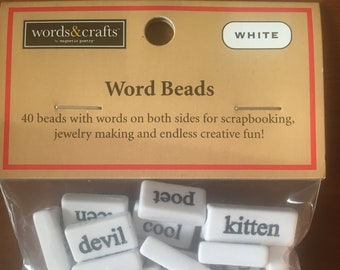 Word Beads by Magnetic Poetry