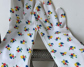 Vingage Hansen Floral Garden Party Gloves Size 7