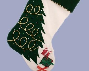 Personalized Christmas Stocking - Christmas Tree