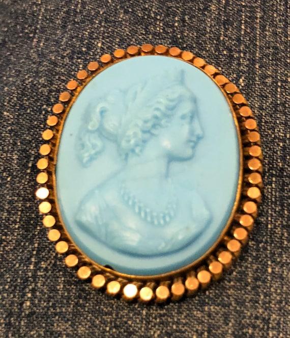 18th Century Beautiful Blue Cameo