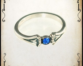 Gabrielle Medieval wedding ring - Sterling silver 925