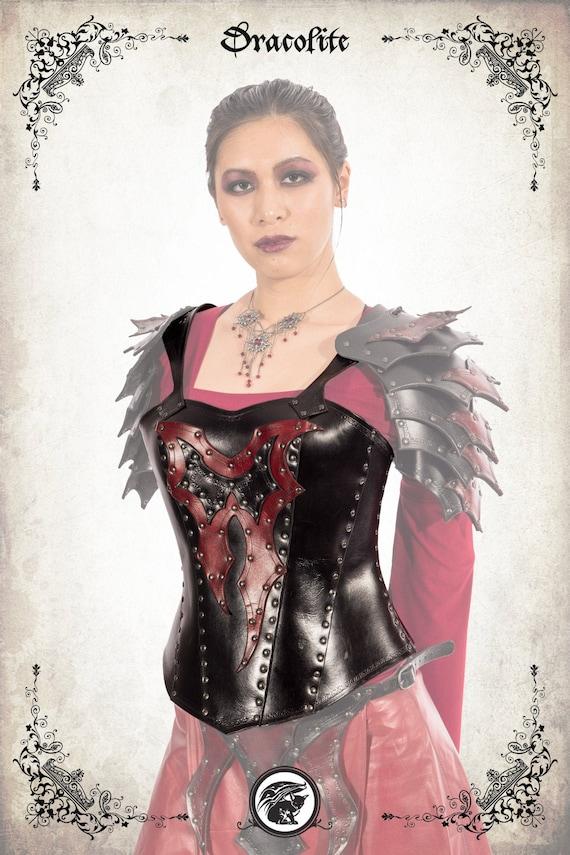 Morgane Breastplate Armor Dark Chaos Warrior Woman Armor For Etsy