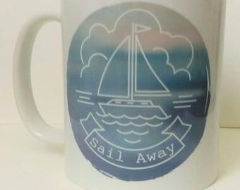 MS Seven Seas Europe Canada Line Cruise Ship Tankard Beer Mug Stein 1955-66 Souvenir Nautical Decor