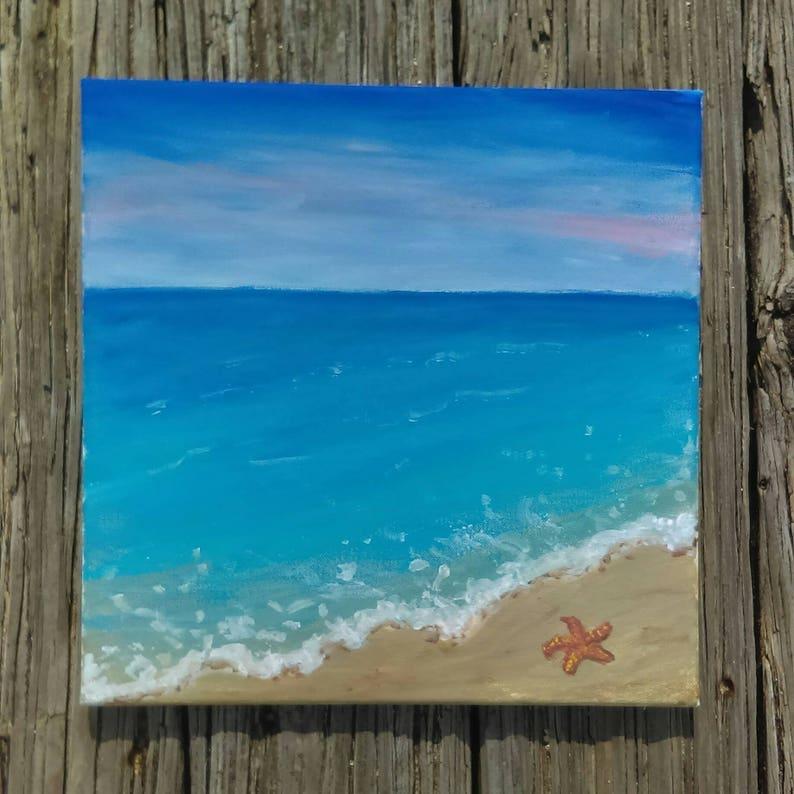 Beach Painting Acrylic Beach Painting Beach Art Beach House Etsy