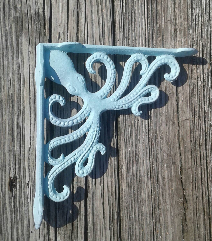 Octopus Cast Iron Bracket Shelf Bracket Nautical Decor