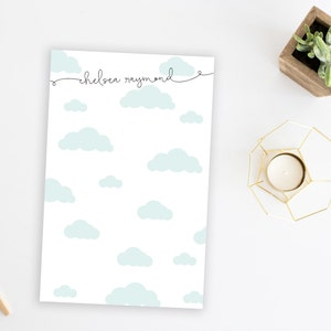 Gift Cloud Stationery Family Notepad Cloud Personalized Note Pad Fun Personalized Stationery Stationary Personalized Notepad Custom