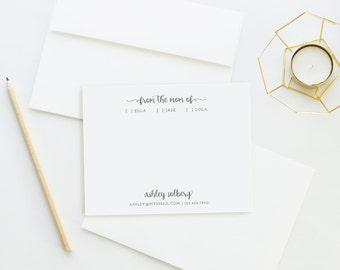 Personalized Stationery. Notecard Set. Personalized. From the Mom Of. Personalized. Stationary. Mom Stationery. Mom Of Notecards.