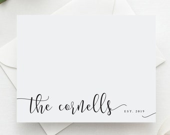 Wedding Thank You Cards | Established Wedding Stationary | Personalized Wedding Stationary | Stationery | Newlywed Gift | Couples Stationary