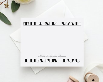 Wedding Thank You Cards | Personalized Stationary | Personalized Wedding Thank You Notes | Thank You Cards | Thank You Notes | Bridal Shower