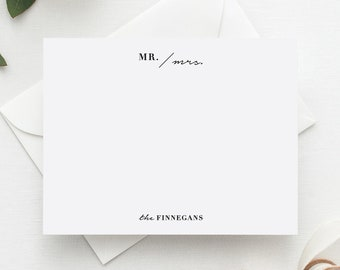 Wedding Thank You Cards | Newlywed Gift | Personalized Stationery | Stationary | Note Cards | Mr. & Mrs. | Modern Wedding Thank You Cards