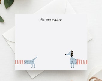 'Dachshund' Personalized Stationery Set