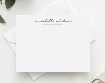 Personalized Stationery | Script Personalized Stationary | Stationary Personalized | Personalized Thank You Cards | Elegant Stationary
