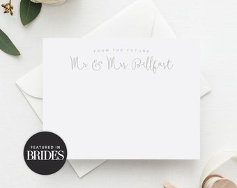 'Future Mr. & Mrs.' Personalized Wedding Stationery Set