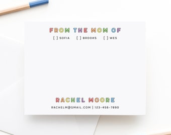 Mom Of Notepad | From the Mom Of Notepad | School Notepad for Mom | Personalized Mom Notepad | School Notes Notepad | Notes to School Office