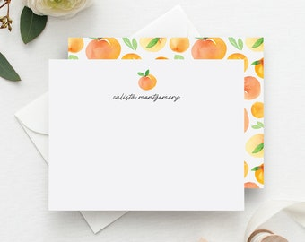 'Springtime Oranges' Personalized Stationery Set