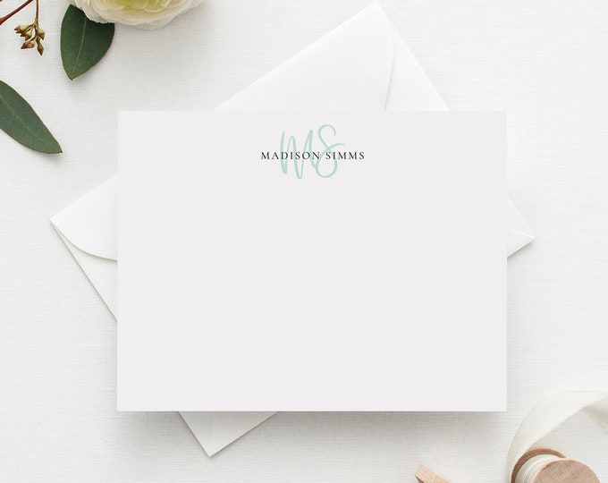Featured listing image: Beauty Monogram Personalized Stationery Set