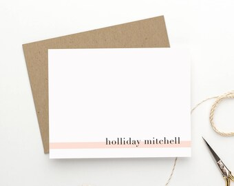 "Personalized Stationery. Personalized Notecard Set. Personalized Stationary. Stationery Set. Note Cards. Personalized Gift. ""Editorial"""