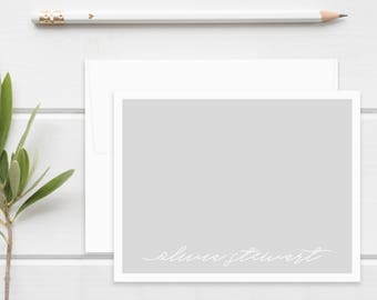 Personalized Stationery. Personalized Notecard Set. Personalized Stationary. Calligraphy. Faux Hand Lettered/Handlettering. Modern Script.
