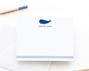 Whale Personalized Stationery Set