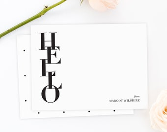HELLO Personalized Stationery Set