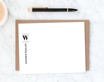 Personalized Stationery for Men. Mens Stationery. Mens Stationary. Professional Stationery. Personalized Stationary Men. Notecards for Men.