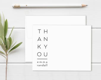 Thank You Cards. Personalized Stationery. Personalized Notecard Set. Personalized Stationary. Thank You Notes. Note Cards. Modern. Billboard