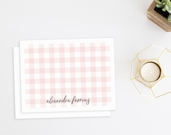 Personalized Stationery. Personalized Notecard Set. Personalized Stationary. Stationery Set. Thank You Cards. Personalized. Gingham.