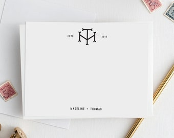 Monogram Wedding Stationery | Custom Wedding Monogram | Personalized Wedding Stationery | Wedding Thank You Cards | Couples Stationary