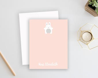 Baby Thank You Cards | Bunny Stationery | Baby Thank You Notes | Kids Stationary | Thank You Notes | Personalized Stationery | Easter Cards