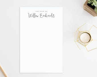 Personalized Notepad. Personalized Note Pad. Personalized Stationery. Stationary. From the desk of. On my desk. Notepad. Note Pad. Fancy.