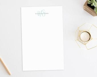 Personalized Notepad. Personalized Note Pad. Personalized Stationery. Stationary. Personalized Gift. Custom. Office. Beauty Monogram.