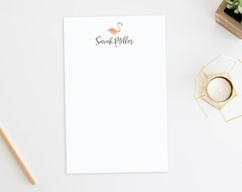Personalized Notepad. Note Pad. Personalized Stationery. Stationary. Personalized Gift. Flamingo Stationery. Flamingo Notepad. Flamingo