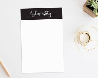 Personalized Notepad. Personalized Note Pad. Personalized Stationery. Stationary. Personalized Gift. Custom. Office. Minimal. Unique. Posh.
