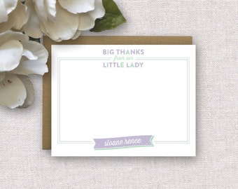 NEW! Personalized Thank You Cards for Kids. Personalized Stationery Kids. Little Girl / Baby Girl Thank You Notes. Personalized Stationery.