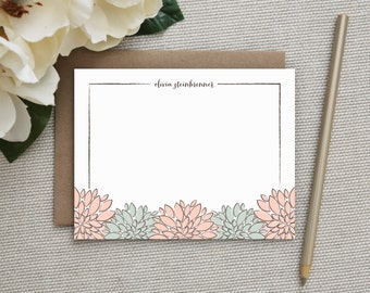 Personalized Stationery. Personalized Notecard Set. Personalized Stationary. Note Cards. Personalized. Stationery. Sets. Sketched Florals.