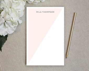 Notepads. Personalized Notepad. Note Pad. Family Notepad. Couples. Personalized Stationery. Stationary. Best Gifts. For the Office. Angled.