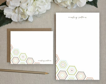 Personalized Notepad + Stationery Gift Set. Personalized Notepad. Personalized Stationery. Notepad. Stationary. Gift Set. Bohemian Geo.
