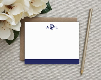 Personalized Stationery. Personalized Notecard Set. Personalized Stationary. Monogram / Monogrammed Stationery / Note Cards. Block Monogram.