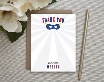 Superhero Thank You Notes. Thank You Notes for Kids. Super Hero. Superhero Party. Thank You Notes. Personalized Stationery. Stationary. Kids