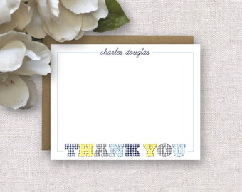 Personalized Stationery. Baby Boy Thank You Notes. Personalized Stationery for Kids. Baby Thank You Card. Note Card. Personalized Stationary